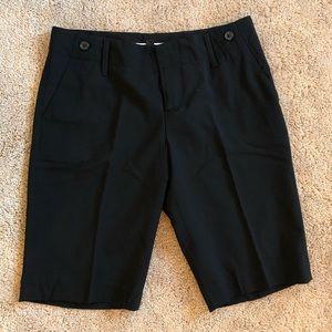 Banana Republic Black Wool Suit Shorts Size 8 NWOT